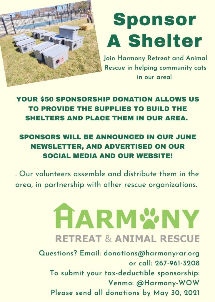 Harmony Flier Cat Shelters